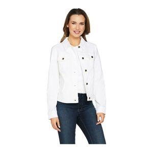 C Wonder Women's Denim Jeans Jacket White Size 14